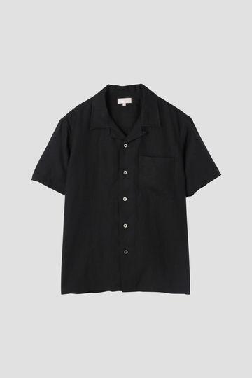 [別注]SHIRTING LINEN BLACK