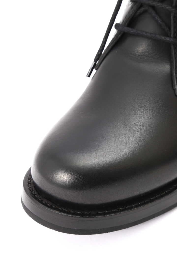 LEATHER MILITARY ANKLE BOOT