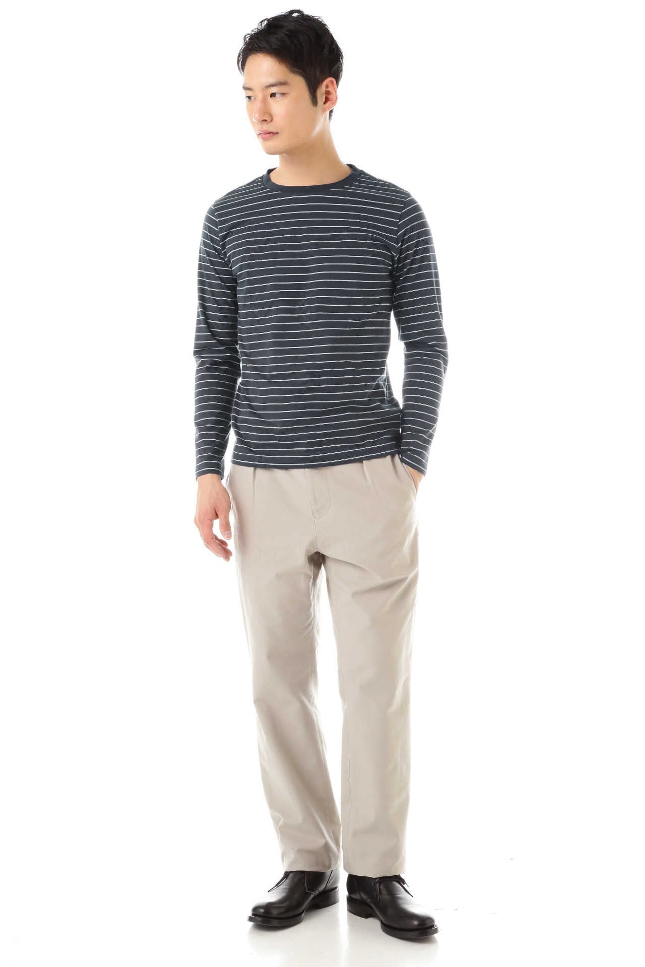 DENSE COTTON SOFT JERSEY STRIPE