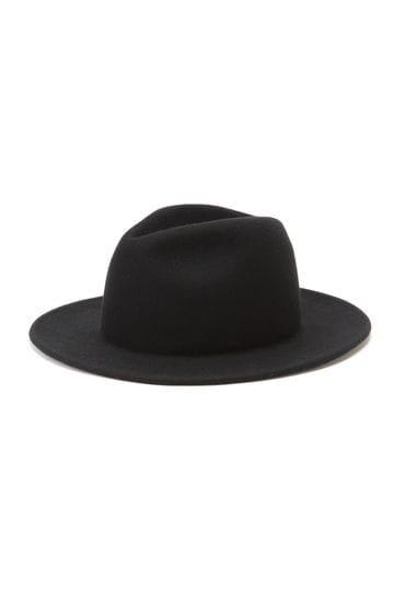 ROHW MASTER PRODUCT / PAPER LIKE BRIM WOOL FELT HAT