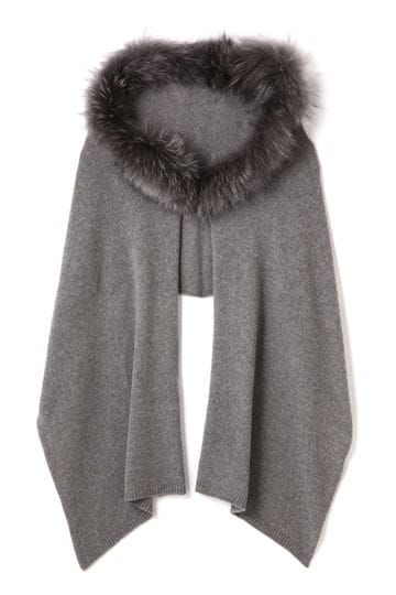 BRUNO CARLO / Cashmere Scarf with Racoon Fur