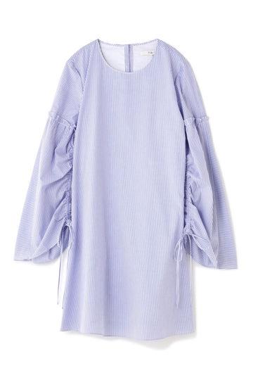 TIBI / ELLIOT STRIPE TRAPEZE DRESS