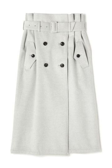 DESSIN DE MODE / 一重ビーバートレンチスカート