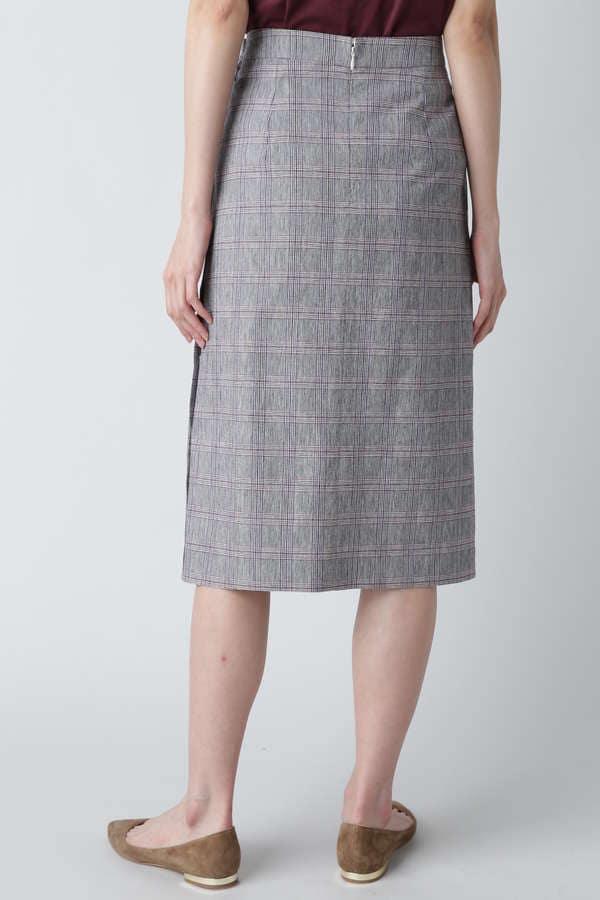 D'UN A DIX / チェックタイトスカート