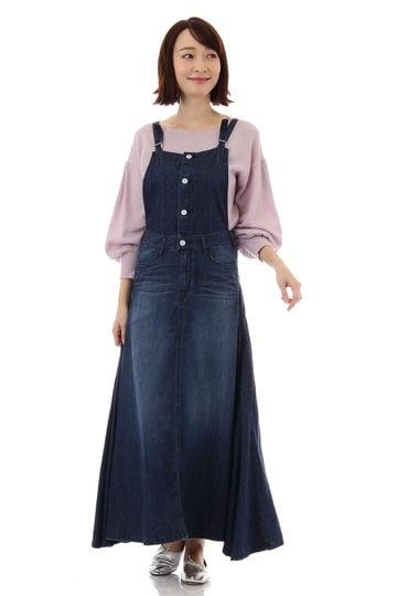 WOADBLUE / RAIN LILLY デニム サロペットスカート(indigo)