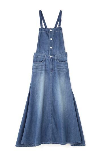 WOADBLUE / RAIN LILLY デニム サロペットスカート(light blue)