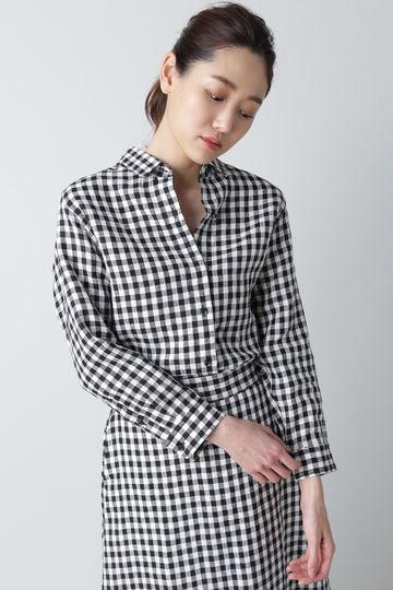 [別注]LUXLUFT / リネンギンガムチェックシャツ