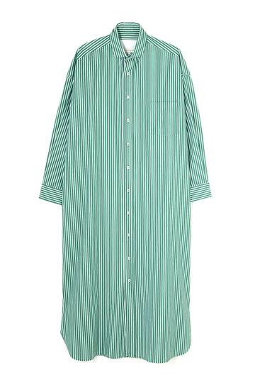 [別注]TICCA / スクエアビッグロングシャツドレス LONDON STRIPE
