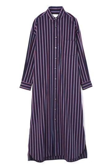 [別注]TICCA / スクエアビッグロングシャツドレス MULTI STRIP