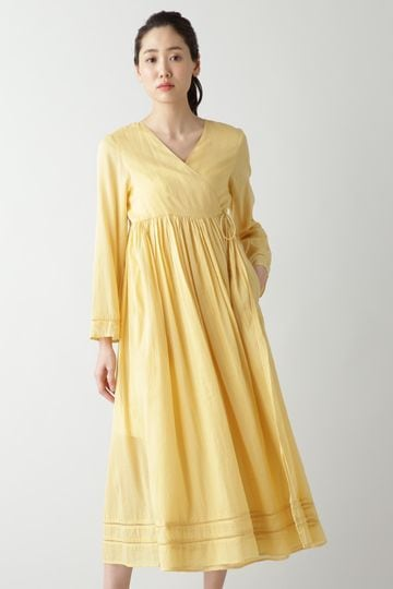 NE QUITTEZ PAS / COTTON VOIL CROSS OVER FRONT GOWN