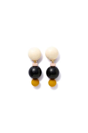 ALEXANDRINE PARIS / BLACK MIX EARRINGS