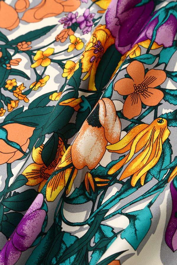 MANIPURI / SILK SCARF(FLOWER OR)