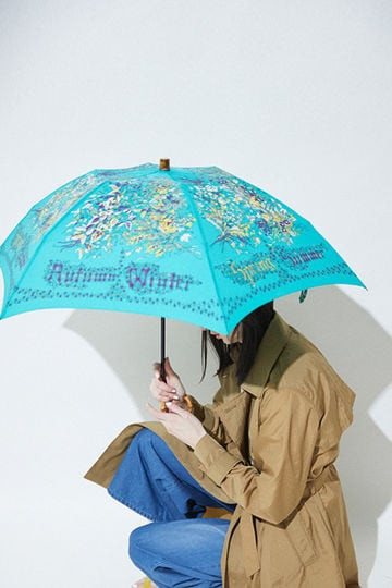 MANIPURI / 晴雨兼用折りたたみ傘(green)