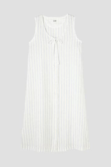 END ON END LINEN STRIPE