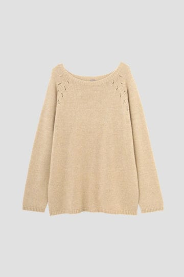 WOOL CASHMERE SILK JUMPER