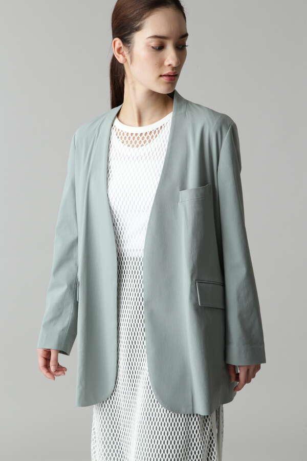 【セットアップ対象】麻混ノーカラージャケット