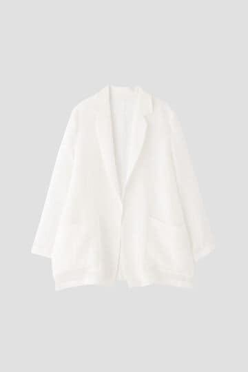 【セットアップ対象】リネンボイルワッシャージャケット