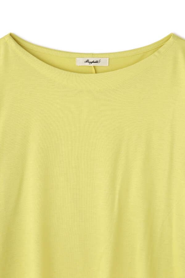ランダムヘムボートネックTシャツ