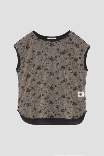 クレープジャージフレンチレースTシャツ
