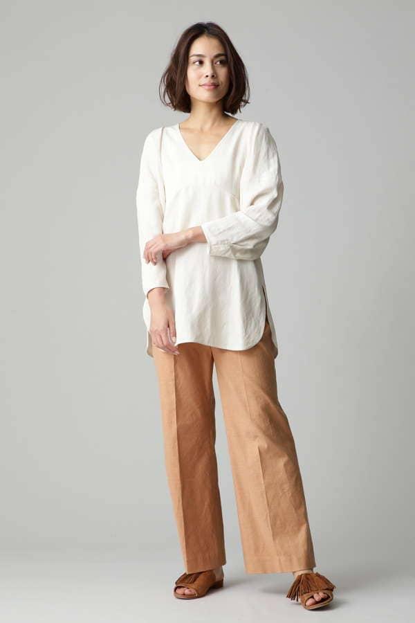 ボリューム袖ブラウス