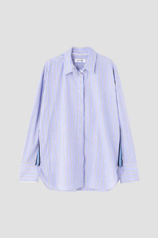 ワイドストライプレギュラーシャツ