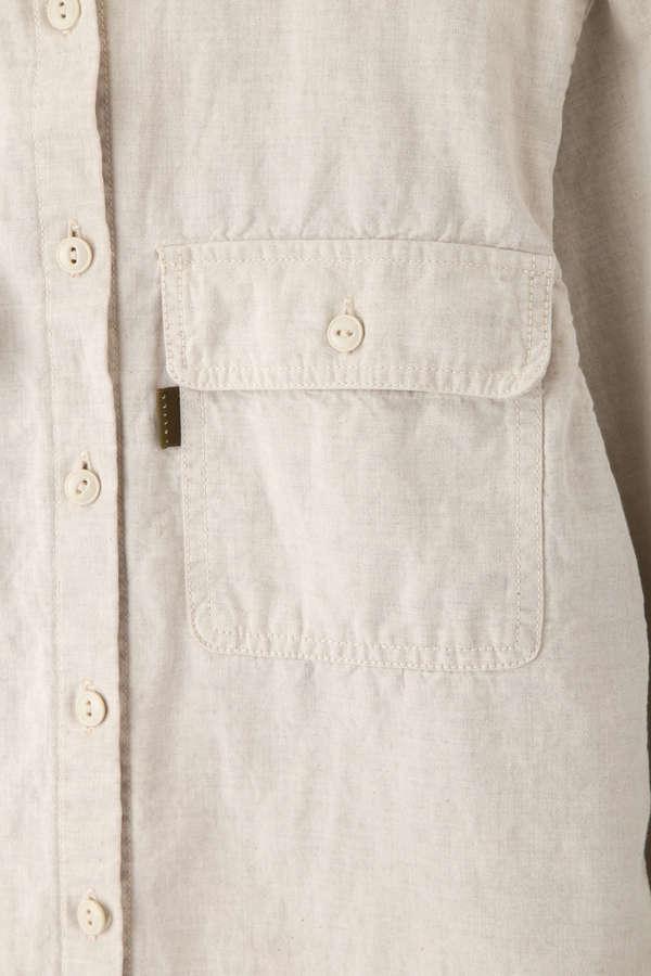 コットンリネンワークシャツ