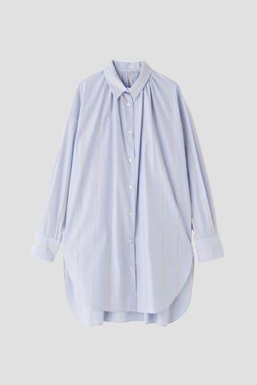 襟ぐりギャザーシャツ