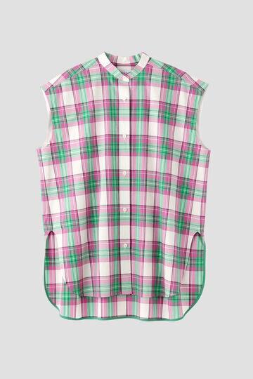 ノースリチェックシャツ