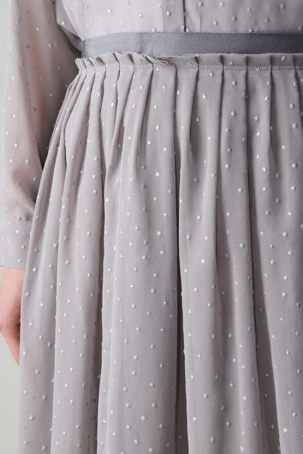 【セットアップ対象】スタープリントシフォンスカート