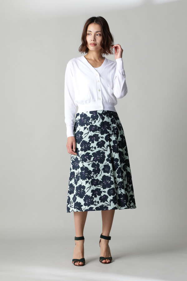 ビッグフラワープリントスカート