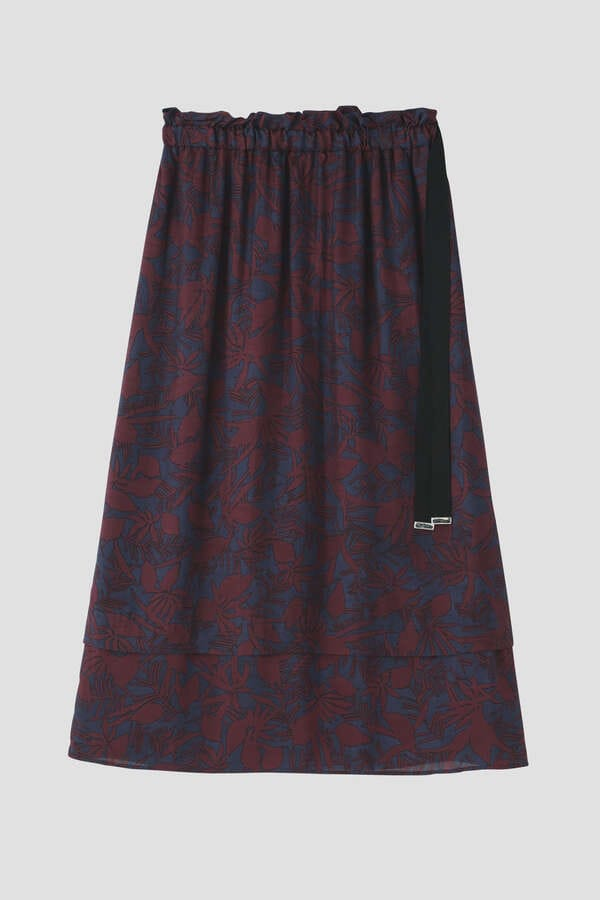 【WEB先行販売】リーフプリントスカート