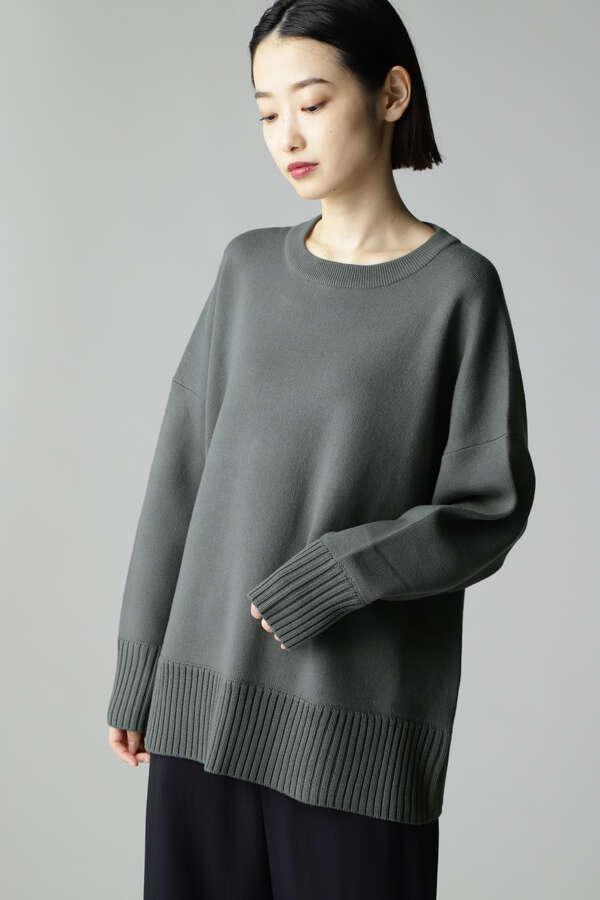 スムース編みプルオーバー
