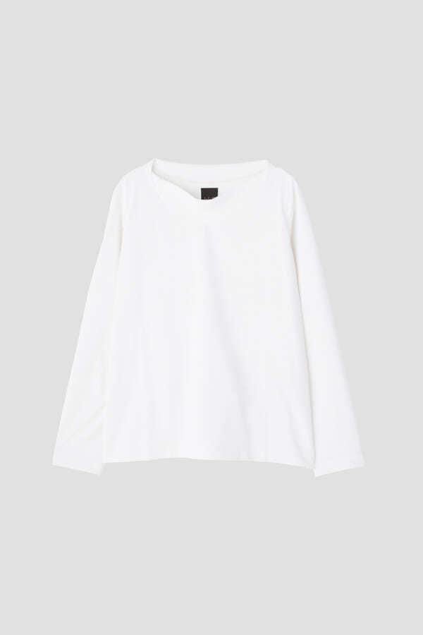 DRY-X天竺ボートネック Tシャツ