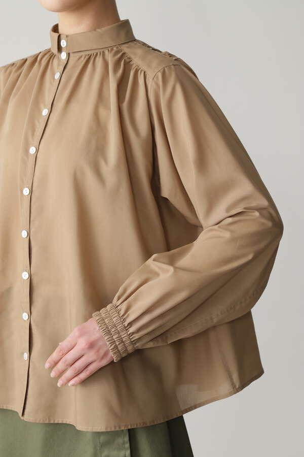 ハイネックギャザーシャツ