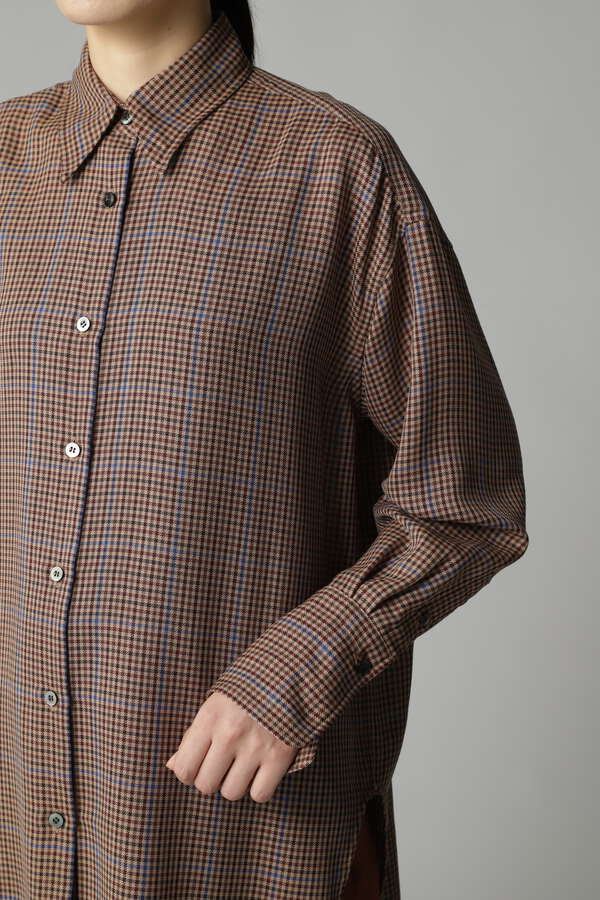 ポプリンチェックシャツ