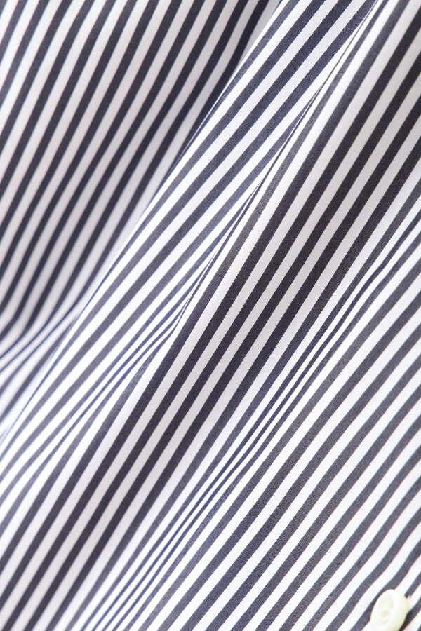 ストライプカシュクールシャツ