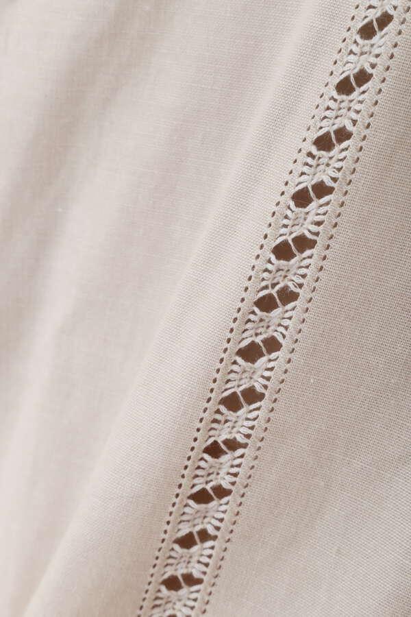 ハンド刺繍フリンジフリルブラウス
