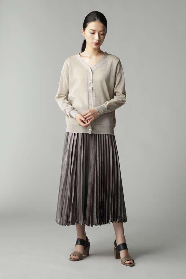 レザーライクプリーツスカート