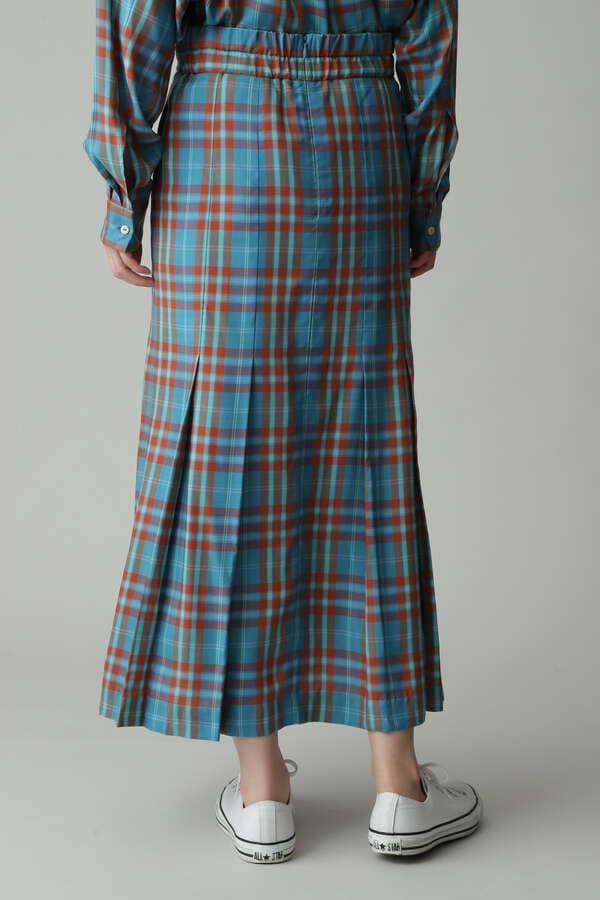 【セットアップ対象】キュプラチェックロングスカート