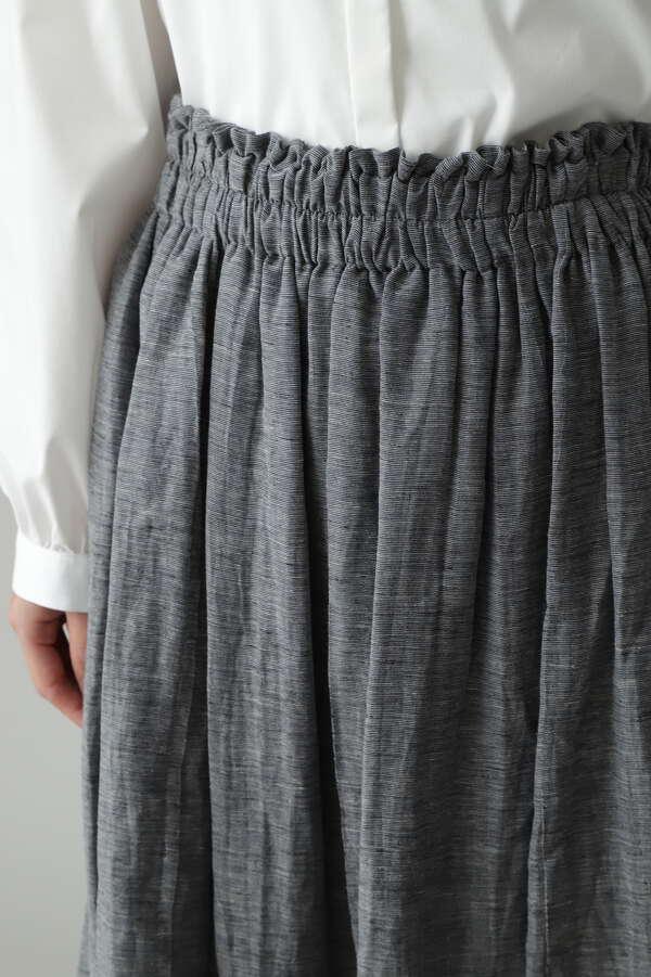 フラワージャガードギャザーロングスカート