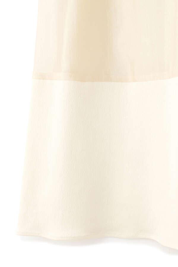 シルク混オーガンジースカート
