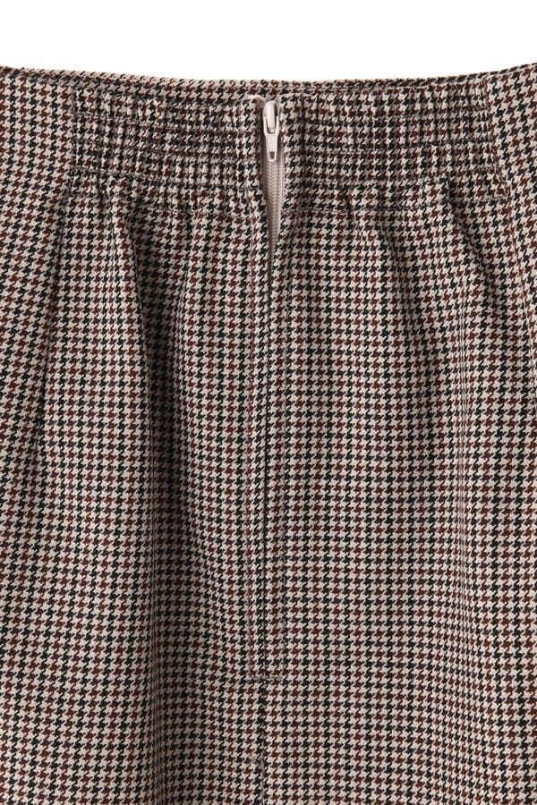グレンチェックAラインスカート