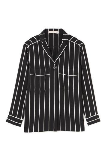 Luxluft ジャケット風ストライプシャツ(セットアップ対象商品)