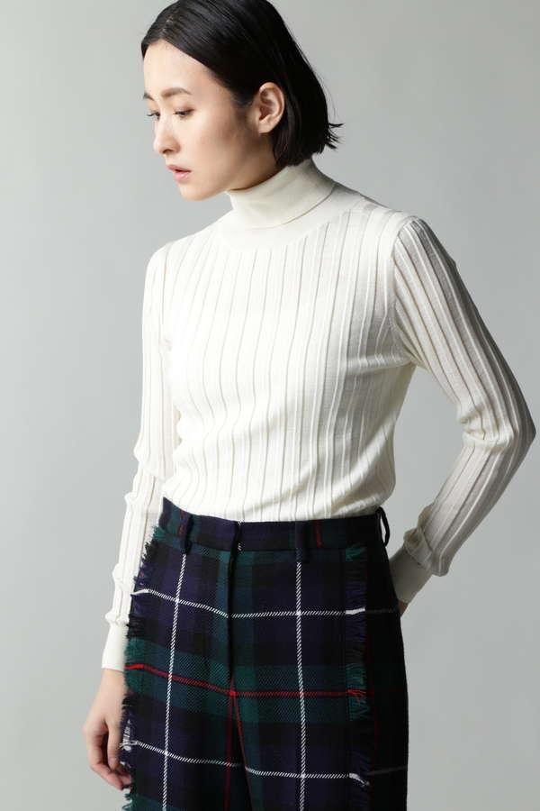 【winter issue】Unaca リブタートルニット