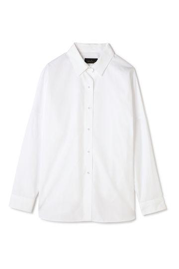 Unaca noir パールボタンタイプライターシャツ