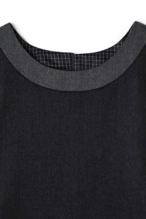 Unaca noir バックデザインノースリブラウス(セットアップ対象商品)