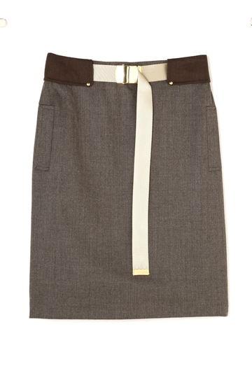 Unaca noir ベルトタイトスカート(セットアップ対象商品)