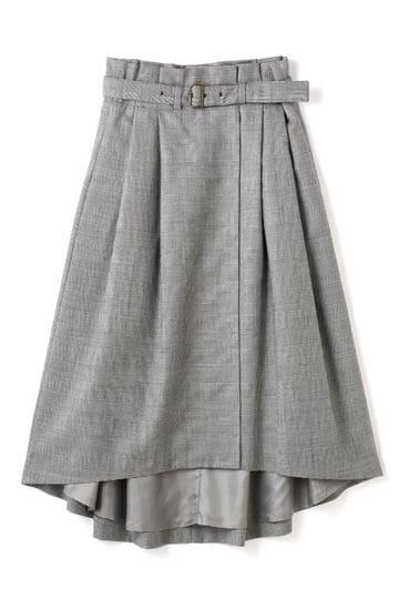 Luxluft ベルトフレアスカート