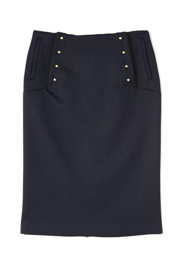 dunadix フロントボタンタイトスカート