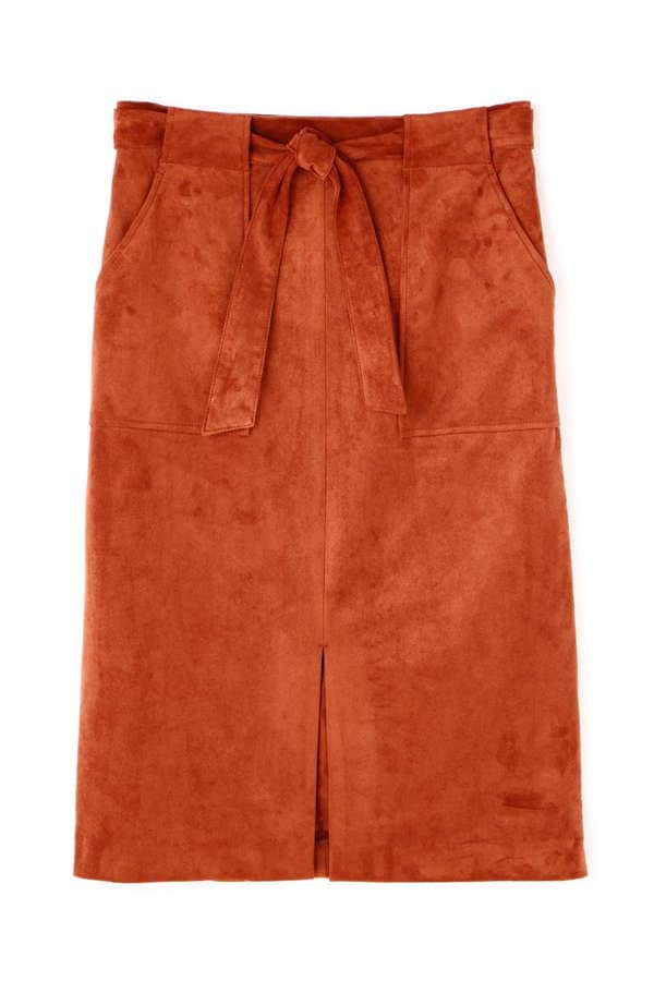 dunadix フェイクスエードタイトスカート